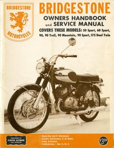 RARE Bridgestone Motorcycle Owners Handbook by OhioVintageBliss