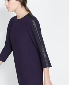 Image 5 de ROBE AVEC APPLIQUE EN SIMILICUIR de Zara