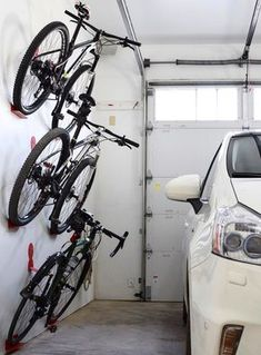 Bike wall hanger. DaHANGER Dan bike hook, reclaim your floor space.