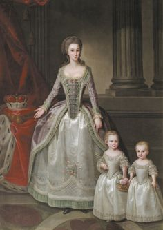 1783 Anonymous - Portrait of Anna Charlotte Dorothea von Medem with daughters Wilhelmine and Pauline