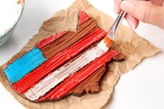 How to Make Rustic American Flag Cookies with a Step by Step Video   The Bearfoot Baker