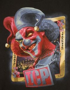Insane Clown Posse ICP Jokers Cards ORIGINAL Juggalo TOUR Concert T-Shirt M X2