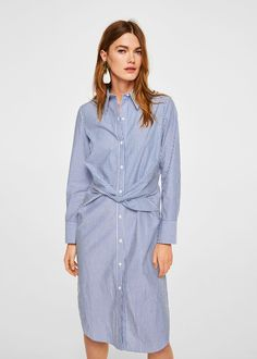 Everything You Need to Create a Stylish Summer Work Wardrobe Summer Work Wardrobe, Summer Work Outfits, Cool Outfits, Mango Outlet, Mango Fashion, Spring Fashion, Trends, Striped Dress, Cotton Dresses