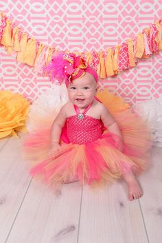 Create a fluttery flourish for your little girl with this magical Tutu Dress from Beautiful Bows Boutique. Uniquely designed by a seasoned artisan, this princess t. Baby Girl First Birthday, Summer Birthday, First Birthday Outfits, Baby Tutu Dresses, Pink Tutu Dress, Tulle Tutu, Big Hair Bows, Toddler Christmas, Tutus For Girls