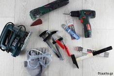 Τα εργαλεία του αρχάριου DIYer Diy Tools, Drill, Drill Press, Hole Punch, Drill Bit
