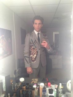 Mika backstage after The Voice 5/3/2014