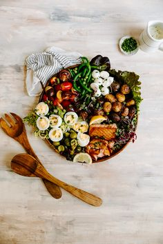 Seared Salmon Niçoise Salad — Bravo! Jenny