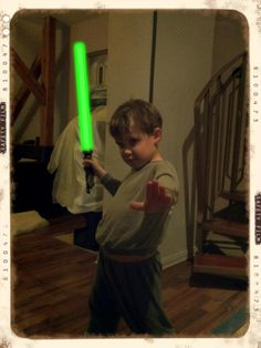 My son loves his lightsabre