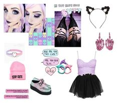"""""""Gothic Pastel"""" by mrscerulli ❤ liked on Polyvore featuring Charlotte Russe, Boohoo, T.U.K., Stay Cute, women's clothing, women's fashion, women, female, woman and misses"""