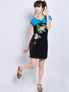 Nextwholesale.com…..new arrival…the most popular #clothing in #China,   #shirt,#dress,#pant,#tops  #Wholesale chinese style embroidered womens dress