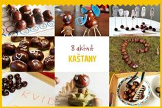 Speciál na téma KAŠTANY Caramel Apples, Kids Crafts, Montessori, Place Cards, Place Card Holders, Autumn, My Style, Inspiration, Christmas