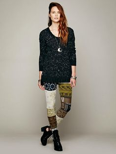 Sweater Pants Patchwork Free People