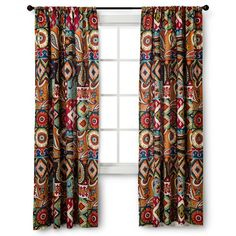 "Mudhut™ Makayla Curtain Panel - Multicolor (54x84"")"