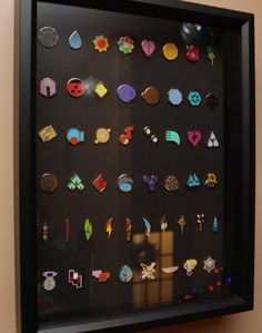 Pokémon gym badges display