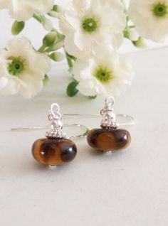 by Yet Mee Kin Tiger Eye and Sterling Silver Dangle Earrings, Gemstones Earrings. Gift Ideas, Christmas, Mother's Day, Valentine's Day https://www.facebook.com/permalink.php?story_fbid=885618058164540&id=100001490617281