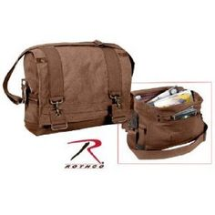 Rothco Vintage Canvas B-15 Pilot Messenger Bag in Brown at http    3a692cc80c3