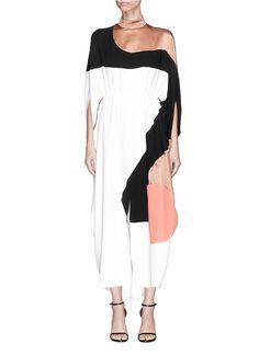 83259a0fb1b  Enga  drawstring colourblock silk dress