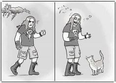 Every Metalhead has a Sensitive Side. This is so true. Mostly for kitties.