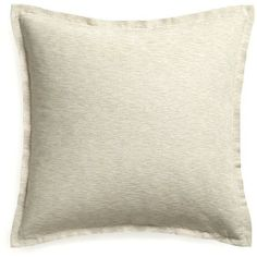 "Crate & Barrel Linden Natural 23"" Pillow with Feather Insert ($35) found on Polyvore"