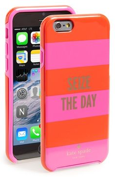 Free shipping and returns on kate spade new york 'seize the day' iPhone 6 case at Nordstrom.com. Two-tone stripes and an inspiring quote add signature flair to a hard-shell iPhone case designed to keep your tech chic and scratch-free.