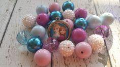 NEW Chunky Big Bubble Gum Beads DIY Elsa ANNA by BigBubbleBeads, $16.00