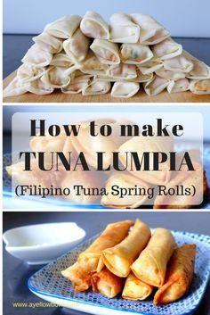 tuna lumpia (filipino tuna spring rolls)
