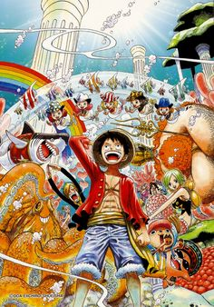 'One Piece, Vol. by Eiichiro Oda and Eiichiro Oda ---- Reads R to L (Japanese Style), for audiences rated teen. As a child, Monkey D. Luffy dreamed of becoming King of the Pirates. One Piece Anime, Monkey D Luffy, Akuma No Mi, Otaku, One Piece Tattoos, One Piece Series, Nami One Piece, Japon Illustration, Comics