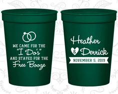 Plastic Wedding Cups, Personalized Cups, Wedding Cups, Personalized Plastic Cups, Stadium Cups, Party Cups, Plastic Cups (243)