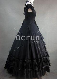 Schwarze Gothic viktorianischen Stil Kleider zu verkaufen