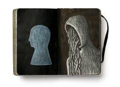 Cuadernistas es un blog en el que un grupo de ilustradores enseñan lo que guardan en sus cuadernos.  Cuadernistas is a blog where leading illustrators show what they usually hide in their sketchbooks.