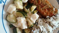 Lachsfilet paniert mit Spinatcremefüllung  | Zucchinigemüse | Fetakäse | Basmati- & Wildreis | Olivenöl | Italienische Kräuter