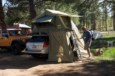 Subaru with camp lab roof tent