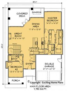 House Plan Information for E1145-10