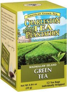 Charleston Tea Plantation Wadmalaw Island Green Tea box of teabags, USA