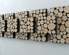 Rustic Wood Sculpture Piano Keys 12x48 by ModernRusticArt
