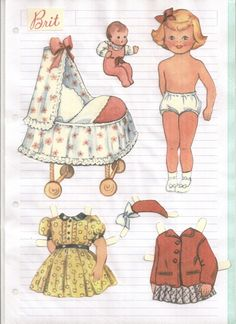.I loved to play with paper dolls