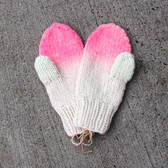 pink Ombre Mittens