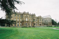 Flintham Hall, near Newark, Nottinghamshire. Remodeling of Georgian house by T.C. Hine in 1851-4, for T.B.T. Hildyard. Famous conservatory.