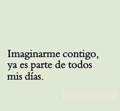Imaginarme contigo