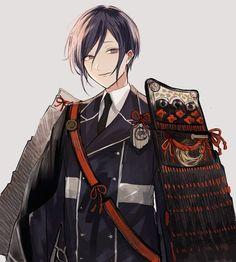 もちさん (@mochi_migashi55) / Twitter Guerra Ninja, Cute Anime Guys, Cute Characters, Touken Ranbu, Comic Art, Fan Art, Boys, Illustration, Swords