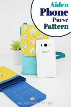 Crossbody cell phone purse pattern. This small phone bag pattern can  double as a phone wallet or a small travel bag and is a wonderful choice  for shopping, dating, night out, working when you just want to bring  the essentials. Use this easy pattern to make a fashionable lightweight  phone bag. #sewingpattern #sewingbags #phonepouch #diyphonepurse Coin Purse Pattern, Wallet Pattern, Tote Pattern, Purse Patterns, Coin Wallet, Phone Wallet, Cell Phone Purse, Best Bags, Kids Bags