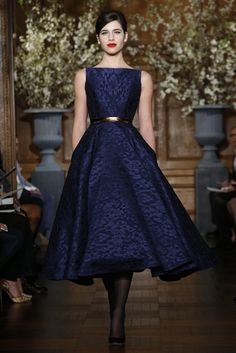 Good color. Love boat necks. Love the midi length and defined waist.
