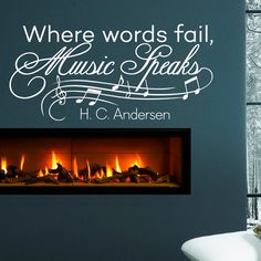 Wall Decal Music Quote  Vinyl Lettering Where by FabWallDecals