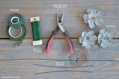 DIY Succulent Boutonnieres + How-to Wire Succulents for Arrangements