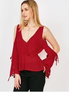 GET $50 NOW | Join RoseGal: Get YOUR $50 NOW!http://www.rosegal.com/blouses/split-cold-shoulder-blouse-with-1109171.html?seid=4514413rg1109171