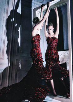 Sigrid Agren in Alexander McQueen   Ph. by Sebastian Kim Numéro # 107 October 2009