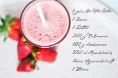 red healthy smoothie