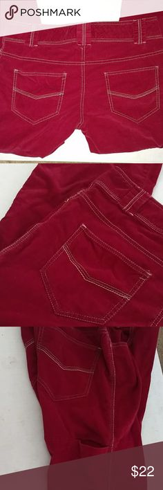 VINTAGE ORGANIC COTTON STRETCH PANTS W SIDE POCKET Design as Shown Super Soft Organic Cotton Pants These are NOT bright red ... Brick Red Gently used Condition OFFERS welcome Inseam 30 Side Pocket as Shown Pants