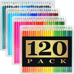 120 Colored Pencils (GIANT EXTRA LARGE SET) – 120 Unique Colors (NO DUPLICATES) – Premium Grade