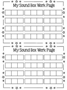 Sound Box {Elkonin Boxes} Work Pages